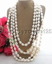 "R022714 Amazing! 100"" 15MM Baroque Pearl Necklace"