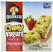 Quaker Yogurt Chewy Granola Bar, Strawberry, 5 Bars Pack of 6