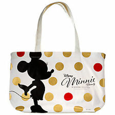 Sephora Disney Minnie Mouse Collection Canvas Tote Cosmetic Travel Bag White NIP