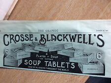 m7-1 ephemera 1900 advert crosse and blackwell soup tablets