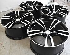 "19"" NEW BMW M3 M4 STYLE BLACK STAGGERED WHEELS RIMS FITS 1 3 4 5 SERIES 5468"