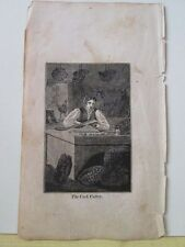 Vintage Print,CORK CUTTER,Mechanical Arts,1827,Watts,Occupations