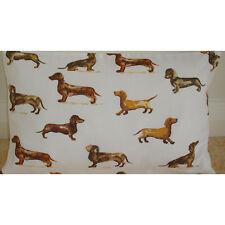"20""x12"" Oblong Bolster Cushion Cover Dachsund Wiener Dog Sausage Dogs Dachshund"