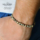 MEGBERRY 925 Sterling Silver and Dalmatian Jasper Beaded Bracelet Made in UK