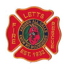 Letts Fire Rescue Firefighter Patch NEW!