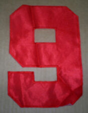 Vintage 80's red Soccer football hockey nylon jersey number 9 nine