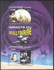 Cambodia 2001 Space/Sailing Ships/Columbus/People/Transport 1v m/s n10523