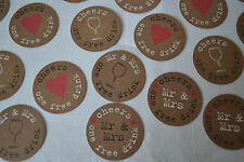 25 WEDDING FREE DRINK TOKEN VOUCHER - JUST MY TYPE VINTAGE RETRO FAVOUR PARTY