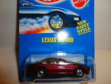 Hot Wheels #264 Metal Flake Dark Red Lexus Sc400 w/Black Wall Wheels Unknown