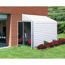 4x7 Storage Shed Metal Garden Utility Outdoor Building Lawn Tools Angled Roof