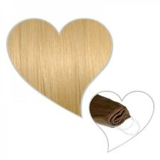 Easy Flip Extensions in hell-goldblond #24 50 cm 110 Gramm Echthaar Hair Secret