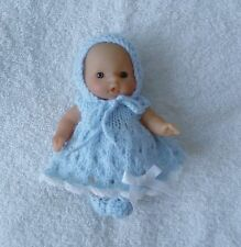 """Hand knitted dolls clothes to fit 5"""" berenguer, beaucoup d'amour, itty bitty"""