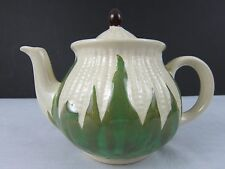 Vintage Rare Teapot Corn King Shawnee USA Brown Cream Green