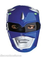 MIGHTY MORPHIN BLUE POWER RANGER FACE MASK ADULT OFFICIAL LICENSE HALLOWEEN