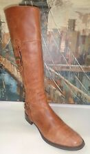 GUESS Tafn Tall Brown Leather Knee High Riding Boots Womens shoes 38/7.5