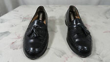 BALLY DAVID USED 9.5 D MEDIUM WIDE BLACK TASSEL LOAFER SHOE