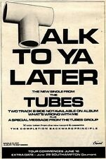 6/6/81PGN26 SINGLE ADVERT 7X5 THE TUBES : TALK TO YOU LATER