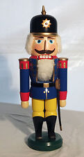 Brand New in Box Vintage Erzgebirge Nutcracker Soldier Blue 13.5""