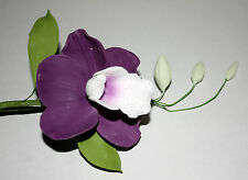 Amethyst Orchid Purple Sugar Flower Spray, Cake Topper Wedding Celebration Cakes