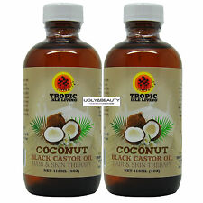 "Tropic Isle Living Coconut Black Castor Oil 4 Oz ""Pack of 2"""