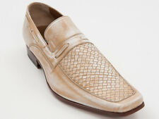 New  Lido Marinozzi Beige Kangaroo Leather Made in Italy Shoes Size 41 US 8