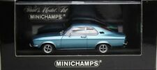 ULTRA RARE MINICHAMPS OPEL MANTA A COUPE IN METALLIC BLUE 1:43 MINT IN BOX
