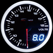 52mm Depo Racing Digital Volt Battery charge gauge White Red Smoked WA5291LED