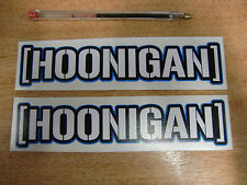 hoonigan sticker - pair -  ken block  decal 7in x 1.5in - BLUE outline