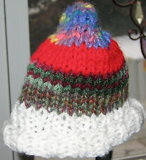 HAND KNIT DOLL CAP MULTI COLOR