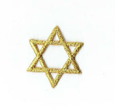 Embroidered Patch - Iron on Applique SMALL Gold Star of David Hannukah Jewish
