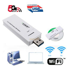 AC 1200M Wireless Dual Band USB3.0 Adapter 2.4G 5G Dongle Wifi Super Speed WPS