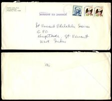 USA to ST VINCENT...MISSENT to JAMAICA 1978