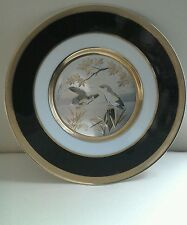 VINTAGE SIMCO ART WARE JAPAN PLATE THE ART OF CHOKIN 24K GOLD EDGED