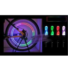 New Colored Wheel Tire Valve Cap Spoke Neon LED Lights Lamp for Bike Bicycle Car