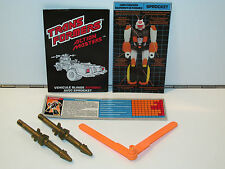 TRANSFORMERS G1  SPARE INSTRUCTIONS SPECS & ACCESSORY SET FOR AM ATTACK CRUISER