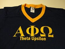 Vintage ALPHA PHI OMEGA Greek Fraternity Sorority T Shirt Theta Upsilon Medium