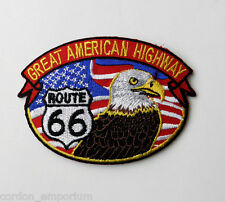 ROUTE 66 GREAT AMERICAN HIGHWAY USA EAGLE EMBROIDERED PATCH 3 INCHES