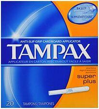 3 Pack - Tampax Cardboard Applicator, Super Plus Absorbency Tampons, 20 Each