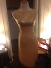60's Vtg Crepe And Lame Holiday Party Dress
