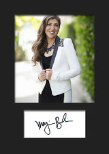 TBBT MAYIM BIALIK #1 A5 Signed Mounted Photo Print (RePrint) - FREE DELIVERY