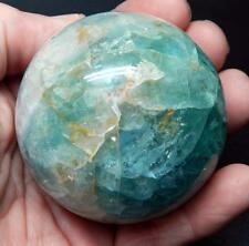 "2.5"" 1+ lb Fluorite Crystal Ball Sphere W/Stand Metaphysical Healing B324"