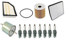Volvo XC90 V8 4.4L Tune Up Kit w/ Fuel Oil Air Cabin Filters & Spark Plugs