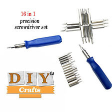 16 in 1 Precision Screwdriver bits Torx Kit Set Tools Repair DIY CraftsBrand New
