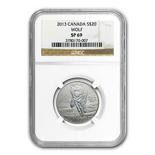 2013 1/4 oz Silver Canadian $20 Wolf Coin - SP-69 NGC