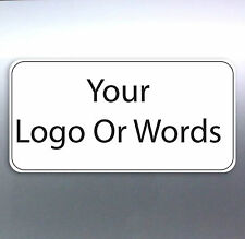 500 Business card sticker Custom Your Text Words logo Australian made free post