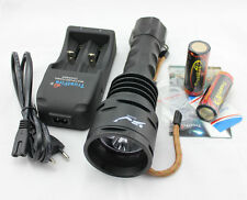 4800LM trustfire Dive 3x CREE XML 16 LED immersione Torcia Flashlight Lampada 26650 Set