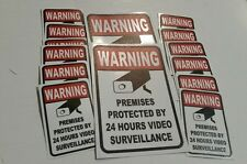 VIDEO SURVEILLANCE Security Decal  Warning Stickers  (warning ) 14pc
