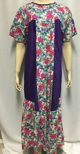 RM Muumuu Dress Floral Lounge Robe M Women's Made In Hawaii Kaftan Nightgown