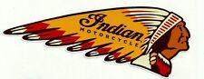 INDIAN MOTORCYCLES GAS GARAGE SERVICE STATION VINYL STICKER / DECAL NEW CHOPPER