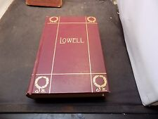 antique book Lowell's Complete Poems Illustrated  Published 1899